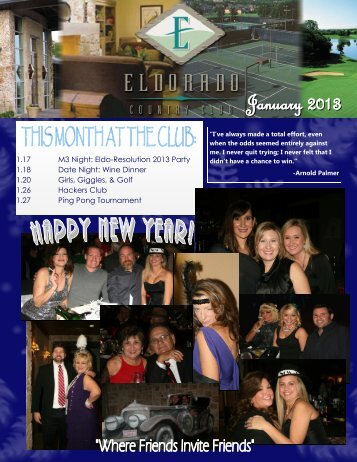 January 2013 Eldorado Newsletter