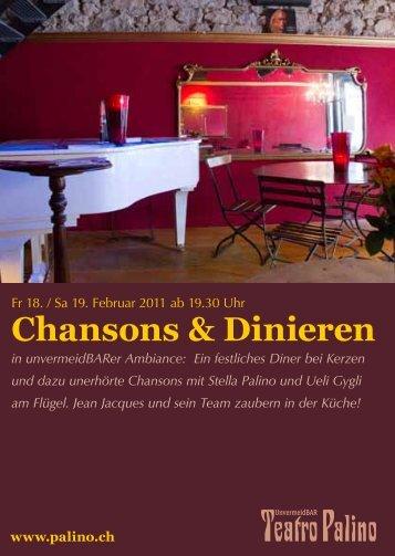 Chansons & Dinieren - Palino