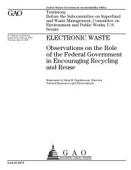 GAO - U.S. Senate Environment and Public Works Committee