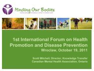 1st International Forum on Health Promotion and ... - knowhealth.pl