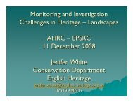Monitoring and Investigation Challenges in Heritage ... - Qi3