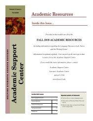 Fall 2008 Academic Resource List.pub - Jon Mueller Home Page