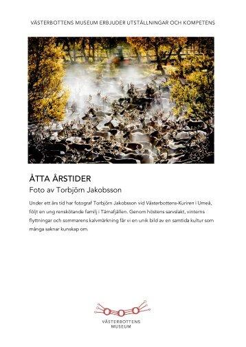 Produktblad - Västerbottens museum