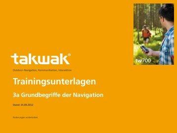Trainingsunterlagen 3a Grundbegriffe der Navigation - takwak