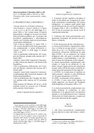 D. Lgs 252/05 - Fondo Pegaso