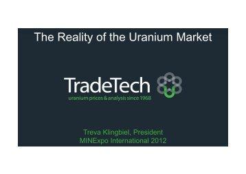 The Reality of the Uranium Market - MINExpo INTERNATIONAL ...