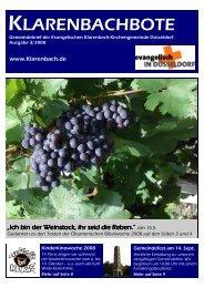 Klarenbachbote 3.08 - Evangelische Klarenbach Kirchengemeinde