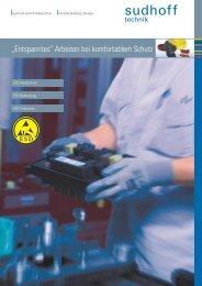 ESD Bekleidung Handschutz Fußschutz - sudhoff technik GmbH