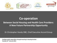 Dr Chris Handy, Cooperation between social housing and health ...