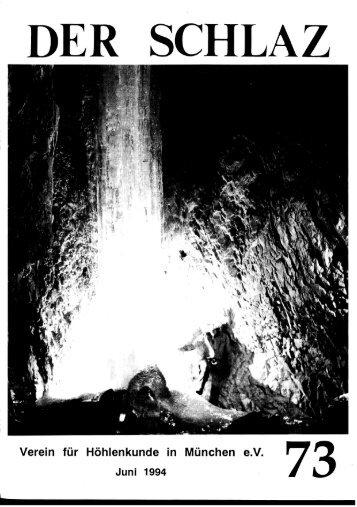 Wasserloch im Weittal - Weißbachquellhöhle. - Der Schlaz 73, 1994
