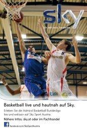 Basketball live und hautnah auf Sky. - Sportmedienverlag