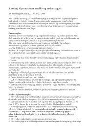 studie- og ordensregler - Aurehøj Gymnasium