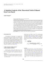 A Statistical Analysis of the Theoretical Yield of ... - IngentaConnect