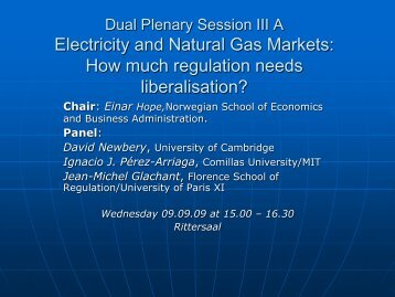 How much regulation need liberalisation? - AAEE