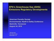 GHG - American Foundry Society