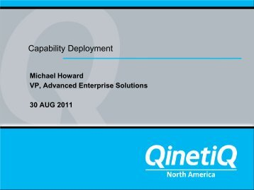 Software Orientated & Event Driven Architecture - Mil-OSS