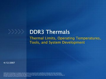 DDR3 Thermals - Micron