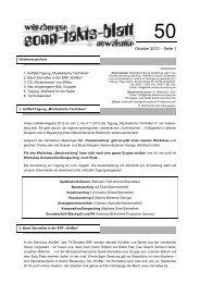 Sonntaktsblatt 50, Ausgabe Oktober 2012 - Arbeitskreis Neues ...