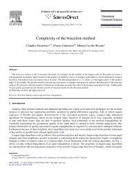 Complexity of the bisection method - Universidad de Chile