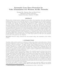 for Video Transmission over Wireless Ad Hoc Networks - CiteSeerX
