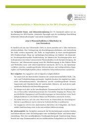 Wissenschaftliche/r Mitarbeiter/in für DFG-Projekt gesucht - ARL