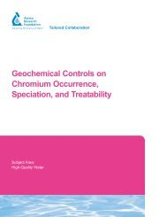 Geochemical Controls on Chromium Occurrence, Speciation, and ...