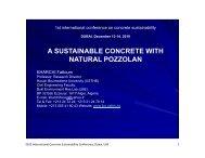 Presentation - International Concrete Sustainability Conference