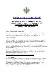 gemeente koekelberg reglement met betrekking tot de voorwaarden ...