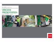 1. Viridian Overview - CSR