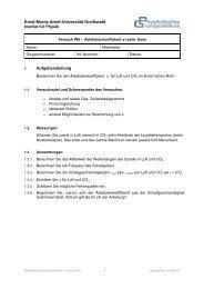 W6 - Ernst-Moritz-Arndt-Universität Greifswald
