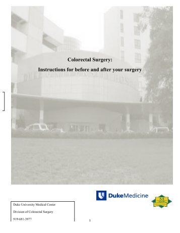 Colorectal Surgery - Duke University Medical Center