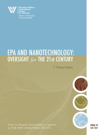 EPA and Nanotechnology: Oversight for the 21st Century