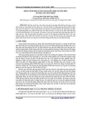 Trang 84 Bản quyền thuộc ĐHQG-HCM PHÂN TÍCH PHI TUYẾN ...