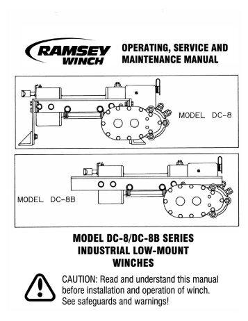 ramsey dc8 or dc8b winch ramsey winch motor wiring diagram