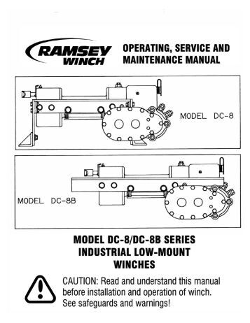 ramsey 200 or h 200 dow lok winch