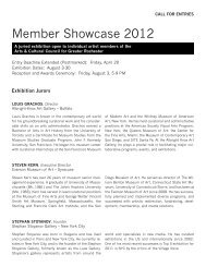 Member Showcase 2012 - The Arts and Cultural Council for Greater ...