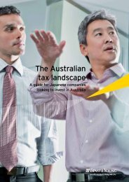 The Australian tax landscape - Ernst & Young