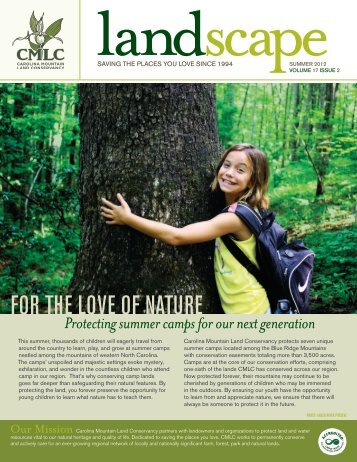 2012 Summer Newsletter - Carolina Mountain Land Conservancy