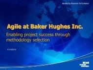 Agile at Baker Hughes Inc.