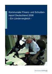 Kommunaler Finanz- und Schuldenreport Deutschland 2008