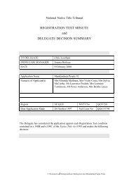 Mandandanji People #2 - National Native Title Tribunal