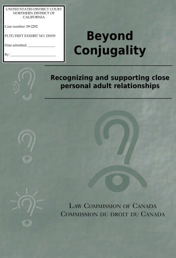 Beyond Conjugality Recognizing and supporting close personal ...