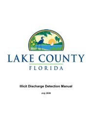 Illicit Discharge Detection Manual - Lake County