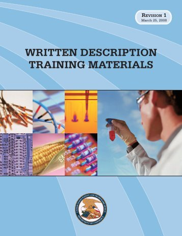 Written Description Training Materials - United States Patent and ...