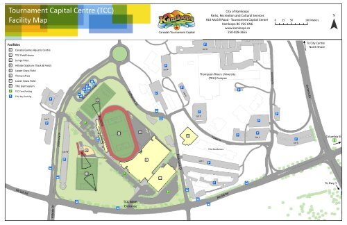Tournament Capital Centre (TCC) Facility Map - City of Kamloops