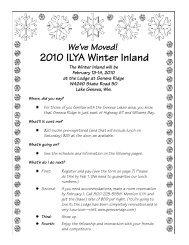 2010 ILYA Winter Inland - Inland Lake Yachting Association