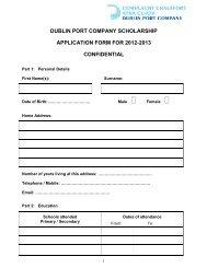 application form 201.. - Dublin Port