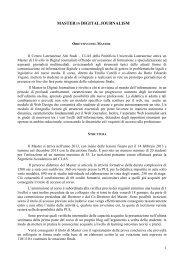 Master in Digital Journalism - Pontificia Università Lateranense