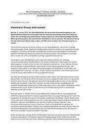 Haarmann Group soll saniert werden - bei Mönning und Georg ...