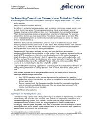 Implementing Power-Loss Recovery in an Embedded System - Micron